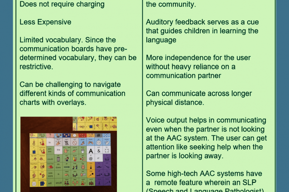Low vs High Tech AAC