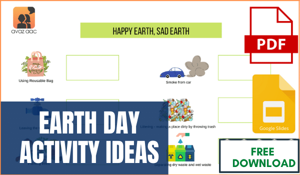 Earth Day AAC Activities